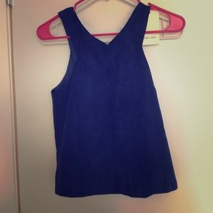 Suede, never before worn, Royal blue tank